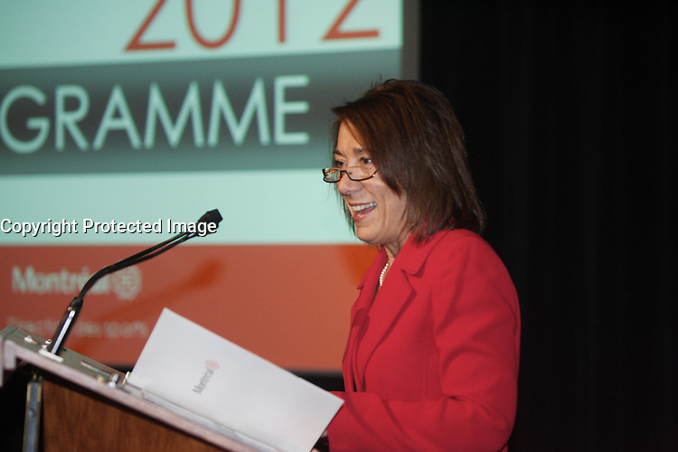 Manon Barbe<br /> en 2012<br /> <br /> PHOTO : Pierre Roussel -  Agence Quebec Presse