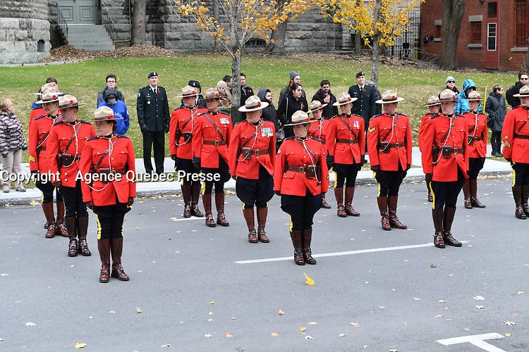 Le jour du souvenir - 11 novembre 2016<br /> <br /> PHOTO  :  Agence Quebec Presse