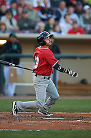 Great Lakes Loons shortstop Dan Hennigan (10) at bat during a game against the Dayton Dragons on May 21, 2015 at Fifth Third Field in Dayton, Ohio.  Great Lakes defeated Dayton 4-3.  (Mike Janes/Four Seam Images)