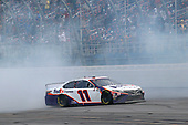 #11: Denny Hamlin, Joe Gibbs Racing, Toyota Camry FedEx Express celebrates his win with a burnout