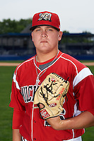 Batavia Muckdogs pitcher Nick White (16) poses for a photo on July 8, 2015 at Dwyer Stadium in Batavia, New York.  (Mike Janes/Four Seam Images)