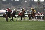 The stretch run in the California Dreamin' Handicap at Del Mar Race Course in Del Mar, California on July 22,2012
