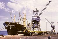 Kuwait November 1966.  Kuwait Oil Company Wharf.