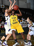 Grambling State Lady Tigers center Wyneshia Randle (45) in action during the SWAC Tournament game between the Alcorn State Braves and the Grambling State Tigers at the Special Events Center in Garland, Texas. Grambling State defeats Alcorn State 72 to 63.