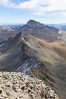 Uncompahgre Peak(background) and Matterhorn Peak (middle) from summit of Wetterhorn Peak (foreground)