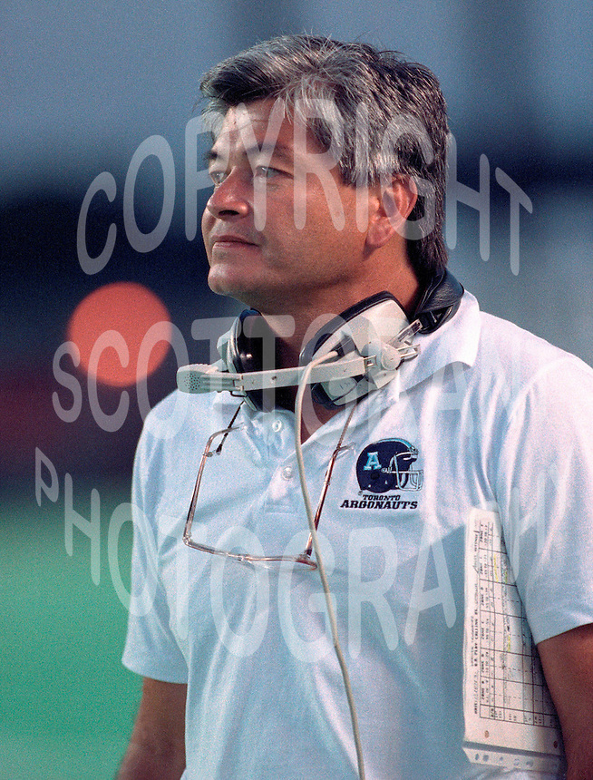 Adam Rita Toronto Argonauts head coach 1991. Copyright photograph Scott Grant