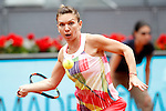 Simona Halep, Roumania, during Madrid Open Tennis 2016 match.May, 5, 2016.(ALTERPHOTOS/Acero)