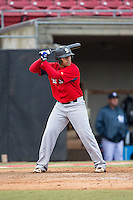 Daniel Oxendine (67) of Lumberton High School in Lumberton, North Carolina playing for the Boston Red Sox scout team at the South Atlantic Border Battle at Doak Field on November 1, 2014.  (Brian Westerholt/Four Seam Images)