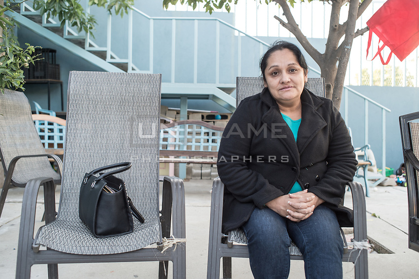 Norma had a good life in the US but was deported few weeks ago and was separated from her husband. Tijuana, Mexico. Jan 06, 2015.