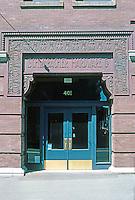 Seattle: Schwabacher Hardware Building, 1890. Elmer Fisher, 105-7 First Ave. S.  Photo '86.