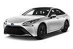 2021 Toyota Mirai Executive 4 Door Sedan Angular Front automotive stock photos of front three quarter view
