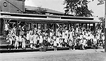 "Children from New York came to the WAterbury area as part of the ""Fresh Air Children's"" program, 14 July 1932. This was a program to get the city kids out to experience life in the country."