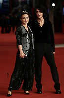 Italian singer Francesco Motta (R) and Italian actress Carolina Crescentini pose on the red carpet for the screening of 'Caterina Caselli - Una vita, cento vite' at the 16th edition of the Rome Film Fest in Rome, on October 20, 2021.<br /> UPDATE IMAGES PRESS/Isabella Bonotto