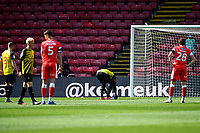 24th April 2021; Vicarage Road, Watford, Hertfordshire, England; English Football League Championship Football, Watford versus Millwall; Ismaïla Sarr of Watfordsets up the penalty kick he earned for Watford in minute 11