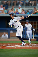 Charlotte Stone Crabs Carl Chester (9) at bat during a Florida State League game against the Fort Myers Miracle on April 6, 2019 at Charlotte Sports Park in Port Charlotte, Florida.  Fort Myers defeated Charlotte 7-4.  (Mike Janes/Four Seam Images)