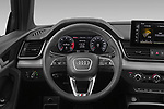 Car pictures of steering wheel view of a 2021 Audi Q5-Sportback S-Line 5 Door SUV Steering Wheel