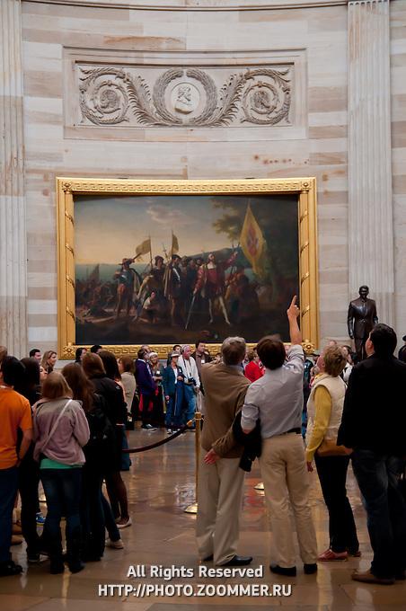 Landing of Columbus Painting in US Capitol Rotunda