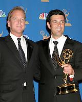 Kiefer Sutherland and Carlos Bernard.58th Primetime Emmy Awards.Shrine Auditorium.Los Angeles, CA.August 27, 2006.©2006 Kathy Hutchins / Hutchins Photo....