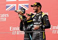 1st November 2020, Imola, Italy; FIA Formula 1 Grand Prix Emilia Romagna, Race Day;  44 Lewis Hamilton GBR, Mercedes-AMG Petronas Formula One Team and 3rd placed  Daniel Ricciardo AUS, Renault DP World F1 Team on the podium