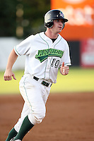 June 27th 2008:  Third baseman Paul Gran of the Jamestown Jammers, Class-A affiliate of the Florida Marlins, during a game at Russell Diethrick Park in Jamestown, NY.  Photo by:  Mike Janes/Four Seam Images