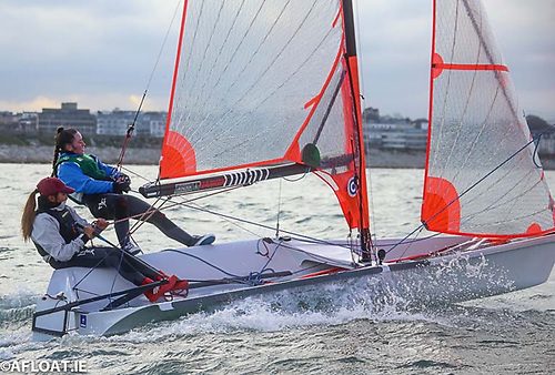 29er skiff sailing on Dublin Bay