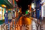 the usually busy Plunkett Street Killarney empty at 9pm on Saturday night