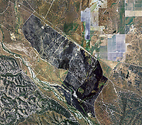 aerial photo map of the contained fire, Salinas Valley, Monterey county, California, 2005