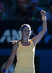 Victoria Azarenka (BLR) powers into final at Australian Open in Melbourne on January 23, 2013.