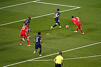 23rd August 2020, Estádio da Luz, Lison, Portugal; UEFA Champions League final, Paris St Germain versus Bayern Munich; Robert Lewandowski of FC Bayern Munich shoots but hits the goal post