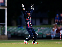 Ollie Robertson appeals for a catch during Kent Spitfires vs Gloucestershire, Vitality Blast T20 Cricket at The Spitfire Ground on 13th June 2021
