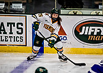 16 February 2019: University of Vermont Catamount Defender Maude Poulin-Labelle, a Freshman from Sherbrooke, Québec, in third period action against the Holy CrossCrusaders at Gutterson Fieldhouse in Burlington, Vermont. The Lady Cats defeated the Crusaders 4-1 to sweep their 2-game weekend series. Mandatory Credit: Ed Wolfstein Photo *** RAW (NEF) Image File Available ***