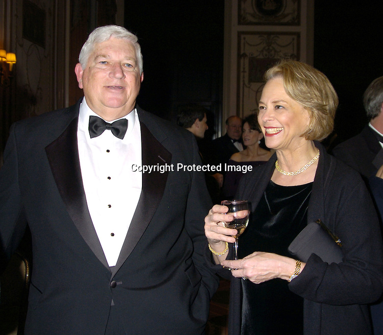 Don Logan and Ann Moore ..at The Magazine Publishers of America's Henry Johnson Fisher Awards Dinner on January 26, 2005 at The Waldorf..Astoria Hotel. ..Photo by Robin Platzer, Twin Images