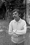Leslie Thomas, OBE (22 March 1931 – 6 May 2014) was a Welsh author best known for his comic novel The Virgin Soldiers. At home in Berkshire 1971.