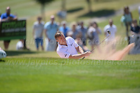 Bradley Walsh clears from a bunker during the Bulmers 2018 Celebrity Cup at the Celtic Manor Resort. Newport, Gwent,  Wales, on Saturday 30th June 2018<br /> <br /> <br /> Jeff Thomas Photography -  www.jaypics.photoshelter.com - <br /> e-mail swansea1001@hotmail.co.uk -<br /> Mob: 07837 386244 -
