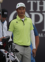 13th July 2021; The Royal St. George's Golf Club, Sandwich, Kent, England; The 149th Open Golf Championship, practice day; Haotong Li (CHN)
