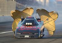 Feb 8, 2020; Pomona, CA, USA; NHRA funny car driver Cruz Pedregon during qualifying for the Winternationals at Auto Club Raceway at Pomona. Mandatory Credit: Mark J. Rebilas-USA TODAY Sports