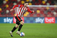 Henrik Dalsgaard of Brentford in action during Brentford vs Bristol City, Sky Bet EFL Championship Football at the Brentford Community Stadium on 3rd February 2021