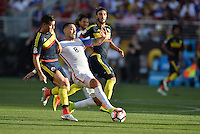 Santa Clara, CA. - June 3, 2016: The U.S. Men's national team go down 0-1 to Colombia in first half action in their opening match at the 2016 Copa America Centenario at Levi's stadium.