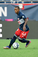FOXBOROUGH, MA - APRIL 17: Michel #48 of New England Revolution II during a game between Richmond Kickers and Revolution II at Gillette Stadium on April 17, 2021 in Foxborough, Massachusetts.