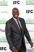 LOS ANGELES - MAR 1:  Adewale Akinnuoye-Agbaje at the Film Independent Spirit Awards at Tent on the Beach on March 1, 2014 in Santa Monica, CA