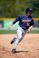 Minnesota Twins Hank Morrison (32) during a minor league Spring Training game against the Baltimore Orioles on March 17, 2017 at the Buck O'Neil Baseball Complex in Sarasota, Florida.  (Mike Janes/Four Seam Images)