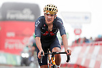 Newly crowned Olympic Champion Richard Carapaz (ECU) Ineos Grenadiers crosses the finish line at the end of Stage 3 of La Vuelta d'Espana 2021, running 202.8km from Santo Domingo de Silos to Picon Blanco, Spain. 16th August 2021.    <br /> Picture: Luis Angel Gomez/Photogomezsport | Cyclefile<br /> <br /> All photos usage must carry mandatory copyright credit (© Cyclefile | Luis Angel Gomez/Photogomezsport)
