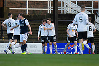 21st November 2020; Somerset Park, Ayr, South Ayrshire, Scotland; Scottish Championship Football, Ayr United versus Dundee FC; Cammy Smith of Ayr United is congratulated after scoring for 1-0 by Luke McCowan