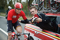 André Greipel (DEU/Lotto-Soudal) needed to change insoles during the race<br /> <br /> 104th Scheldeprijs 2016