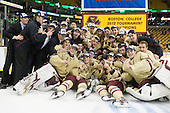 The Boston College Eagles defeated the Boston University Terriers 3-2 (OT) to win the 2012 Beanpot championship on Monday, February 13, 2012, at TD Garden in Boston, Massachusetts.