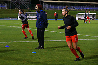 Assistant coach Karim Attanjaoui of Woluwe pictured during the warm up before a female soccer game between FC Femina White Star Woluwe and Eendracht Aalst on the sixth matchday of the 2020 - 2021 season of Belgian Scooore Womens Super League , friday 6 th of November 2020  in Woluwe , Belgium . PHOTO SPORTPIX.BE | SPP | SEVIL OKTEM