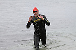 Ray Donagh finishes second at the Green Buoy 1KM Swim in Clogherhead....(Photo credit should read Jenny Matthews/NEWSFILE)...