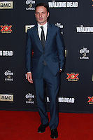 UNIVERSAL CITY, CA, USA - OCTOBER 02: Andrew Lincoln arrives at the Los Angeles Premiere Of AMC's 'The Walking Dead' Season 5 held at AMC Universal City Walk on October 2, 2014 in Universal City, California, United States. (Photo by David Acosta/Celebrity Monitor)