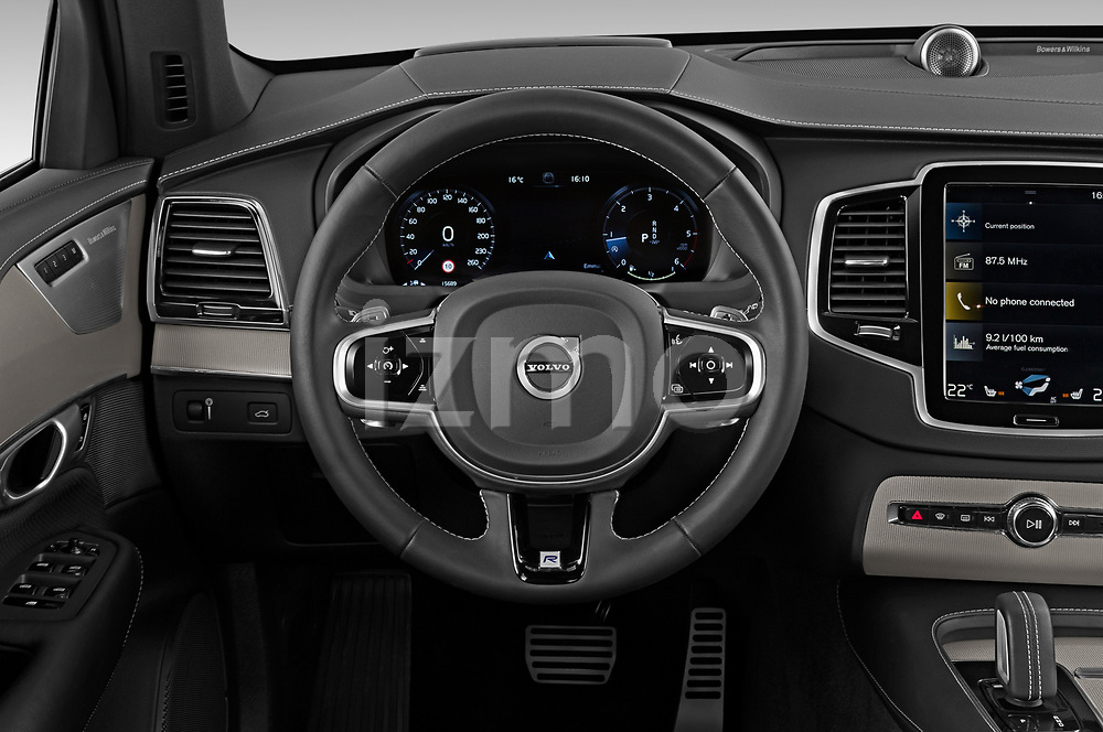 Car pictures of steering wheel view of a 2020 Volvo XC90 R-Design 5 Door SUV