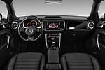 Stock photo of straight dashboard view of 2017 Volkswagen Beetle Dune 3 Door Hatchback Dashboard